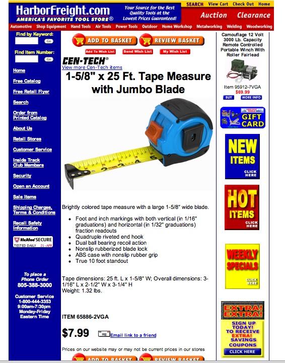 Cen-Tech Jumbo Tape